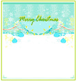 Christmas birds with decorative balls vector image
