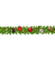 christmas border isolated vector image vector image
