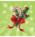 Christmas candy cane background vector image