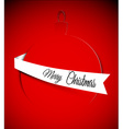 Christmas card with bauble vector image