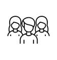 classmates line icon concept sign outline vector image
