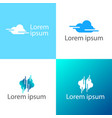 cloud creative logo template icon elements vector image