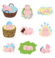 collection of adorable sleeping newborn babies vector image