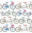 Colorful Bicycle Background Pattern vector image