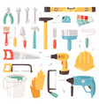 construction equipment constructive tools vector image