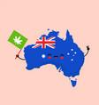 cute funny smiling happy kawaii australia map vector image vector image