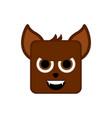 cute halloween werewolf cartoon character vector image vector image