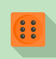 dice icon flat style vector image vector image
