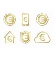 euro logo Euro icon euro design vector image