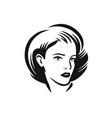 face woman logo beauty salon spa fashion symbol vector image vector image