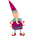 fantasy christmas elf cartoon vector image