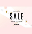 fashion sale banner design background with gold vector image vector image