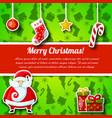 flat christmas postcard vector image vector image