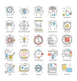 Flat Color Line Icons 21 vector image vector image