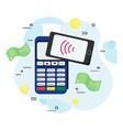 flat payment terminal vector image