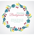 Floral watercolor wreath with flowers vector image vector image