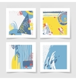 four pieces blank sheet white paper with the vector image vector image