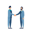 gesture agreement handshake the contract is vector image vector image
