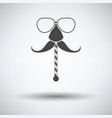 glasses and mustache icon vector image