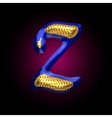golden and blue letter z vector image vector image