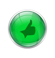 Green right button vector image vector image