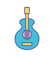 guitar music instrument to melody harmony vector image vector image