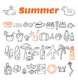 Hand drawn summer collection Beach theme doodle vector image vector image