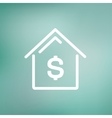 House mortgage thin line icon vector image