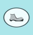 Icon in flat design fashion footwear shoe vector image