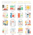 infographics mini concept hotel service icons vector image vector image
