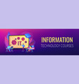 information technology courses concept banner vector image vector image
