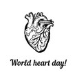 international health heart day concept background vector image vector image