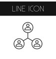 isolated networking outline sharing vector image vector image