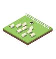 Isometric 3d of farm animals vector image