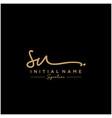 Letter sus signature logo template