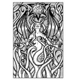 lilith engraved fantasy vector image vector image