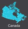 map of canada with cities on a dark background vector image vector image