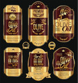 olive oil retro vintage background collection 6 vector image vector image