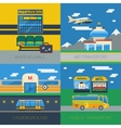 Passenger Transportation 2x2 Design Concept vector image vector image