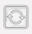 repeat button icon line element vector image