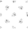 safe money hand pattern seamless vector image vector image