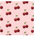 Seamless pattern cherry pink vector image