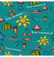 Seamless texture with sea vacation elements vector image vector image