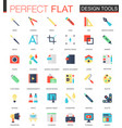 Set of flat app design tools icons