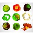Set of watercolor label bubble vector image