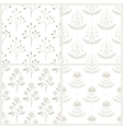set seamless patterns with australian flora vector image