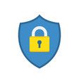 shield icon with padlock vector image vector image