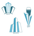 skyscrapers icons vector image