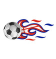 soccer ball on fire with england flag vector image vector image