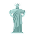 statue of liberty angry aggressive landmark vector image